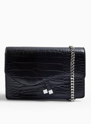 Womens Ava Chain Boxy Crossbody Bag