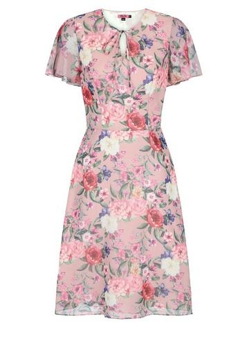 Womens Chi Chi London Pink Floral Printed Midi Dress