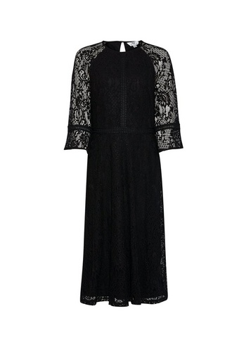 Womens Dp Tall Black Lace Dress