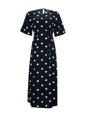 Womens Dp Tall Blue Spot Print Midi Dress