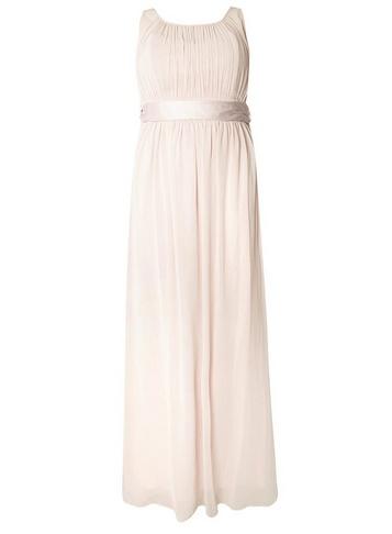 Womens Showcase Curve Blush Bridesmaids 'Natalie' Maxi Dress - Pink
