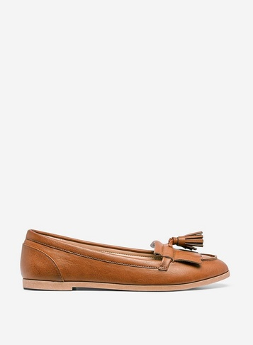 Womens Tan 'Latino' Loafers - Brown