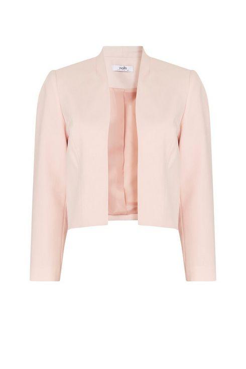 Petite Blush Cropped Blazer