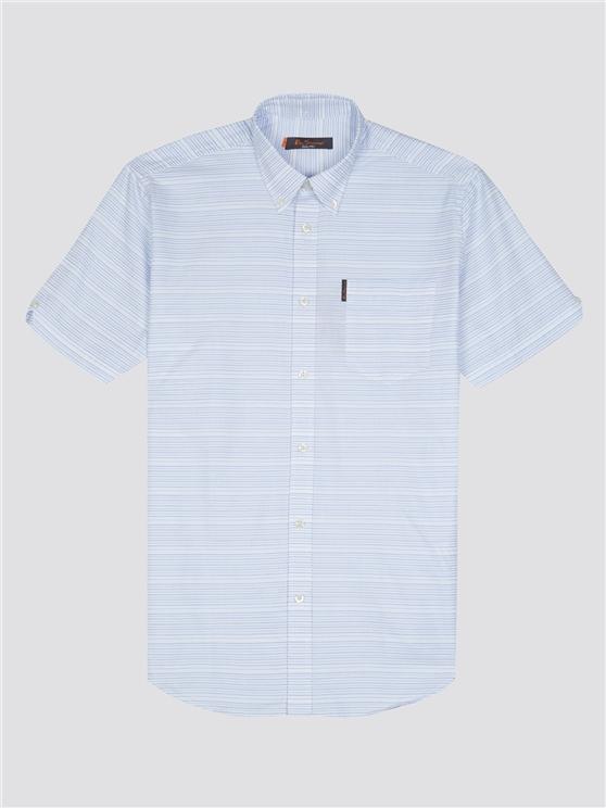 Ben Sherman Short Sleeve Jacquard Dot Shirt White | Ben Sherman - Small loving the sales