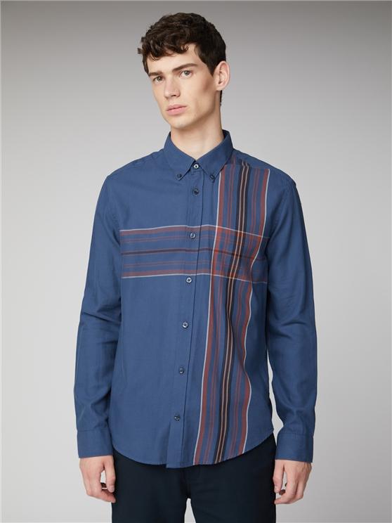 Blue Long Sleeve Checked Striped Shirt   Ben Sherman   Est 1963 - Medium loving the sales