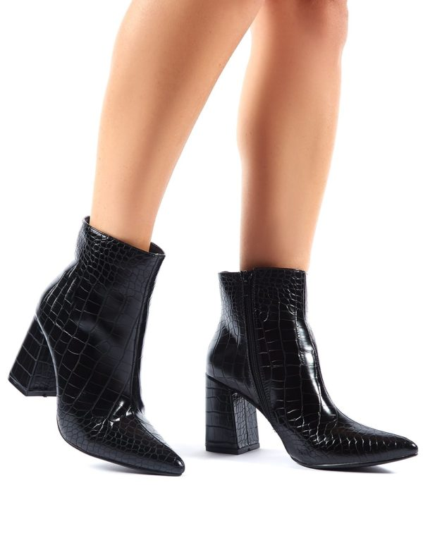Empire Pointed Toe Ankle Boots  Croc