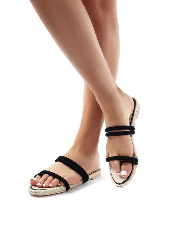 Kady  Faux Suede Espadrille Slider Sandals