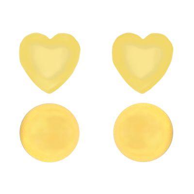 Ladies Juicy Couture Base Metal Heart Expressions Stud Earrings Set loving the sales