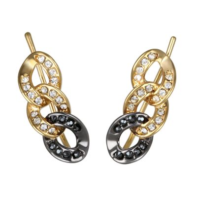 Ladies Karl Lagerfeld Gold Plated Ombre Chain Earrings loving the sales