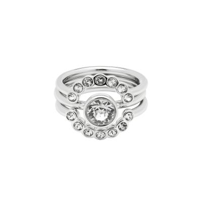 Ladies Ted Baker Silver Plated Cadyna Concentric Crystal Ring Size Ml loving the sales