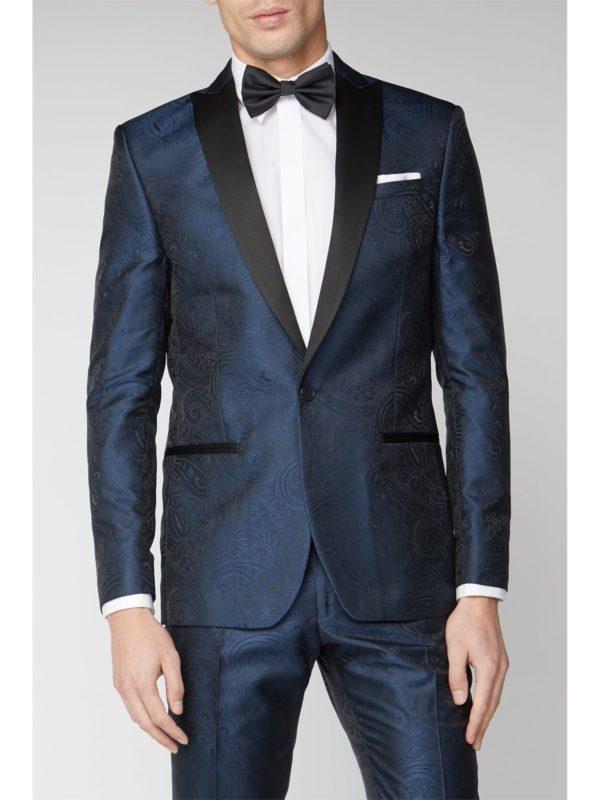 Limehaus Blue Tonal Paisley Suit Jacket 38r Blue loving the sales