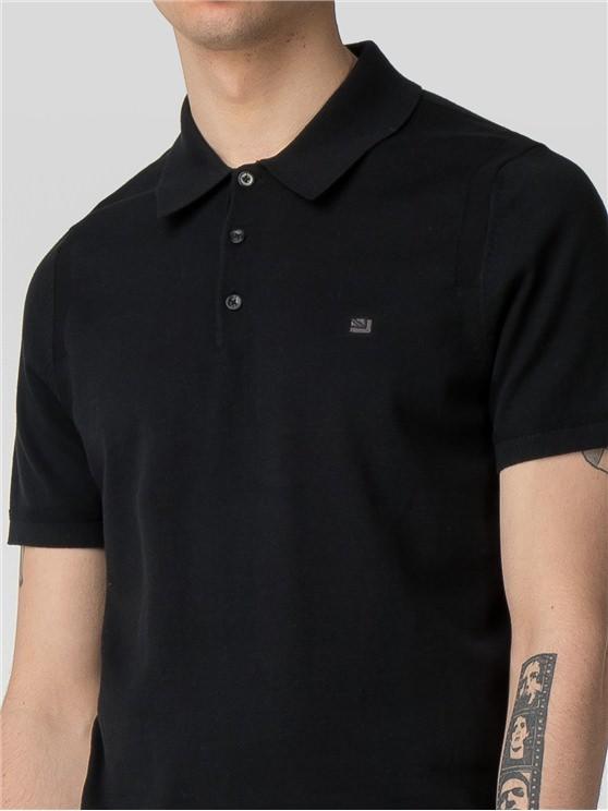 Men's Black Cotton Knitted Polo Shirt | Ben Sherman | Est 1963 - Xs loving the sales