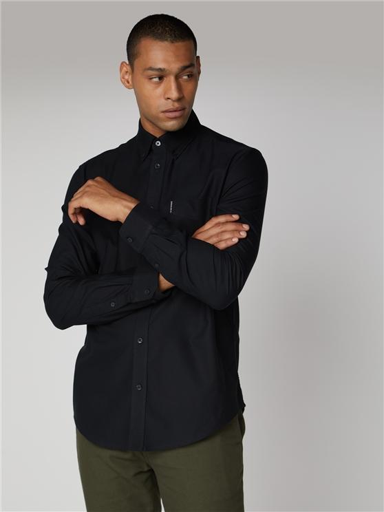 Men's Black Long Sleeve Oxford Shirt | Ben Sherman | Est 1963 - Small loving the sales