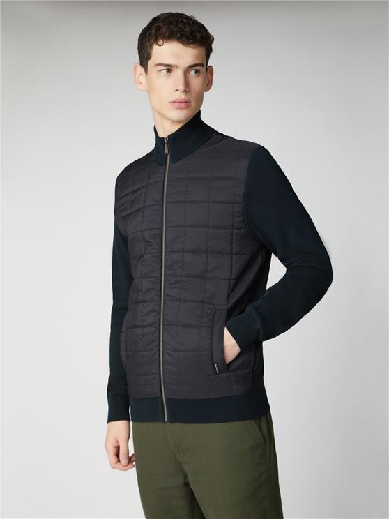 Men's Black Nylon Panel Jacket | Ben Sherman | Est 1963 - Small loving the sales