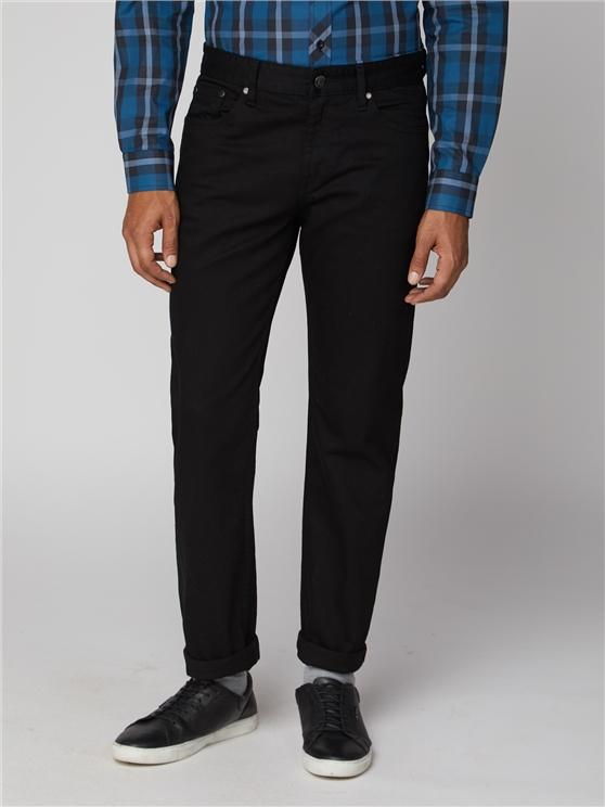 Men's Black Straight Fit Stretch Jeans   Ben Sherman   Est 1963 - 30r loving the sales