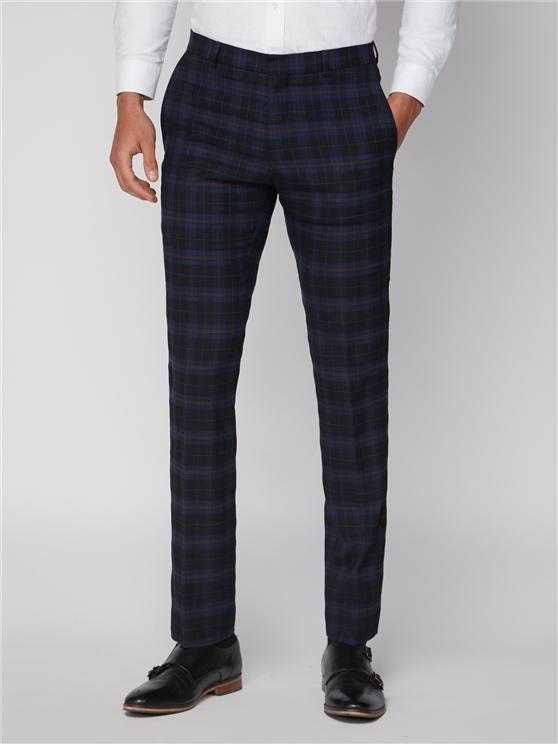 Mens Blue & Mustard Check Suit Trousers   Ben Sherman   Est 1963 loving the sales