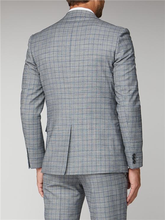 Men's Cool Grey & Blue Checked Suit | Ben Sherman | Est 1963 loving the sales