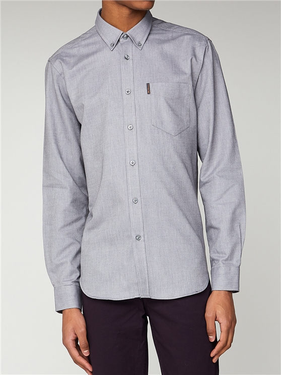 Men's Grey Long Sleeve Oxford Shirt   Ben Sherman   Est 1963 - Small loving the sales