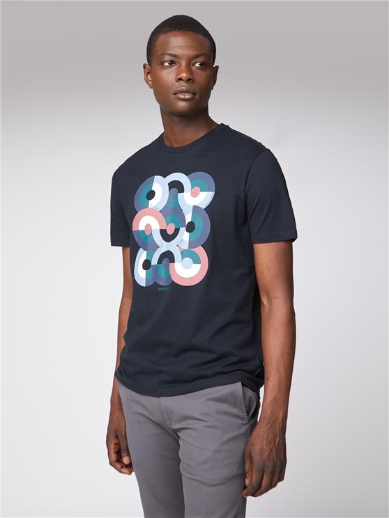 Men's Grey Stacked Mod Target T-Shirt | Ben Sherman | Est 1963 - Xs loving the sales