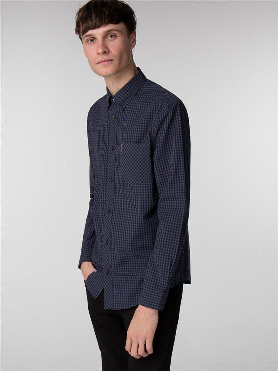 Men's Long Sleeve Core Navy Gingham Shirt | Ben Sherman - Xxxl loving the sales