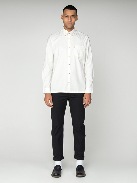 Men's Long Sleeved Plain Marl Shirt | Ben Sherman | Est 1963 - Small loving the sales