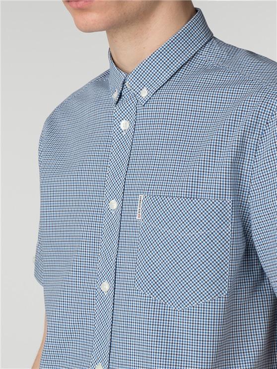 Men's Micro Blue House Gingham Shirt | Ben Sherman | Est 1963 - Medium loving the sales