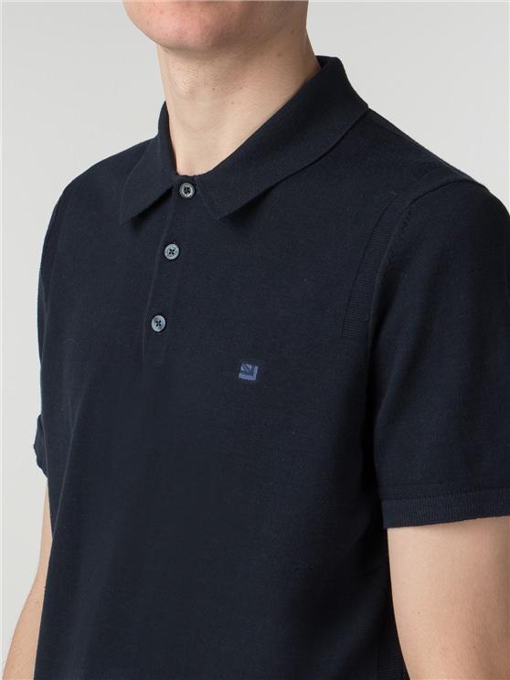 Men's Navy Cotton Knitted Polo Shirt | Ben Sherman | Est 1963 - Xs loving the sales