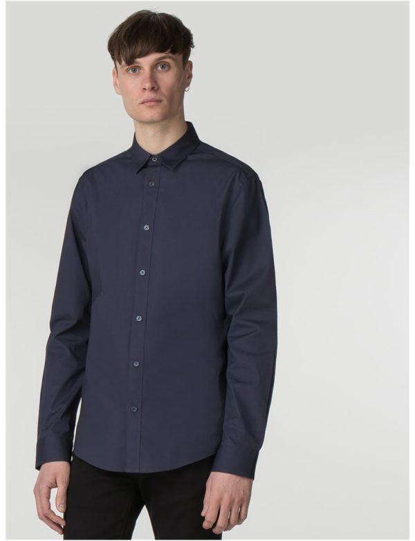 Men's Navy Stretch Poplin Shirt   Ben Sherman   Est 1963 - Small loving the sales