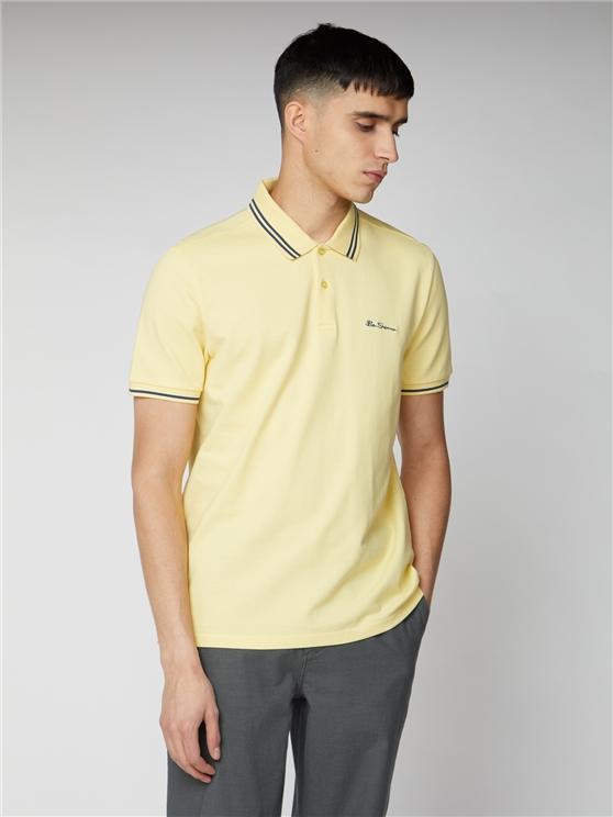 Men's Pale Yellow Romford Polo Shirt | Ben Sherman | Est 1963 - Medium loving the sales