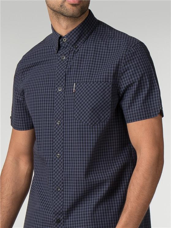 Men's Phantom Blue Gingham Shirt | Ben Sherman | Est 1963 - Xs loving the sales