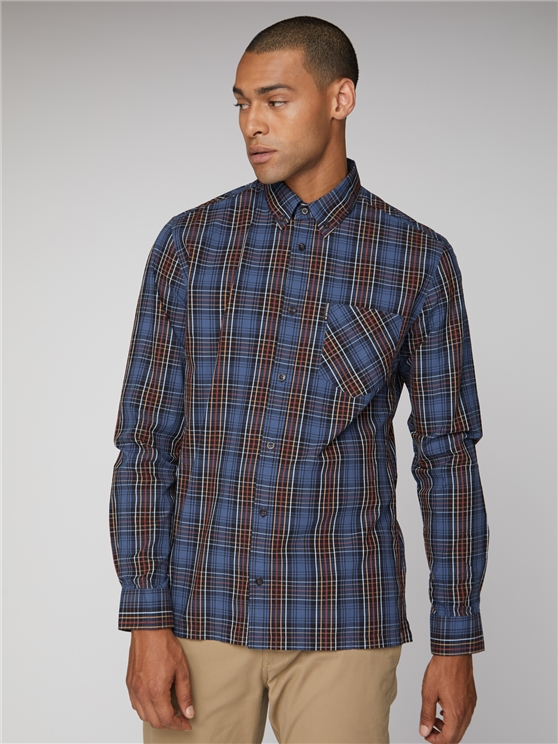Men's Red & Blue Tartan Checked Shirt | Ben Sherman | Est 1963 - Medium loving the sales