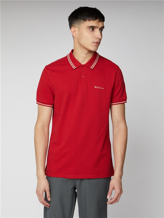 Men's Red Romford Polo Shirt | Ben Sherman | Est 1963 - Small loving the sales