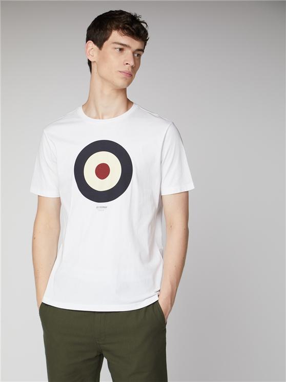 Men's White Classic Target T-Shirt | Ben Sherman | Est 1963 - Xs loving the sales