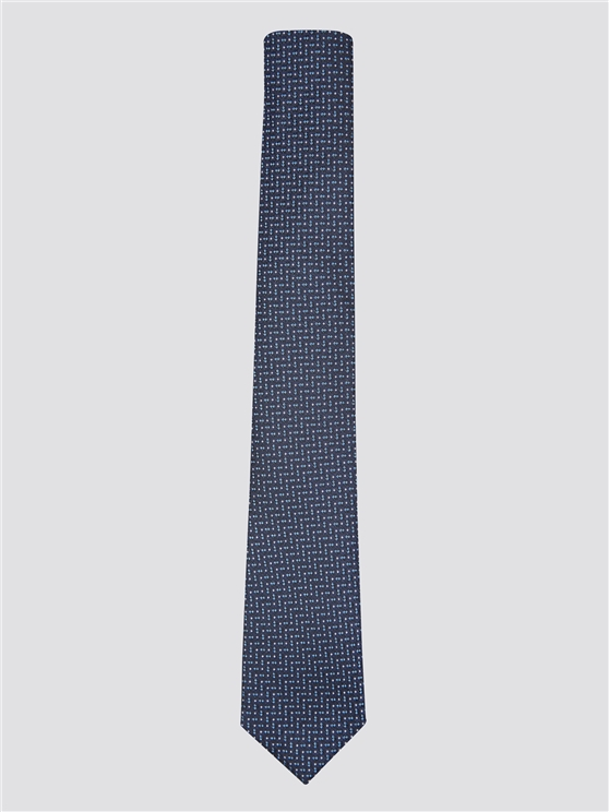 Navy Jacquard Textured Silk Tie | Ben Sherman | Est 1963 - One Size loving the sales