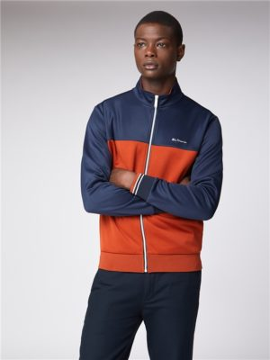 Navy & Orange Zip Up Tricot Track Top | Ben Sherman | Est 1963 - Medium loving the sales