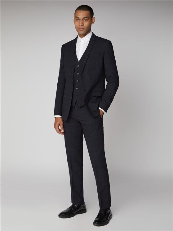 Navy & Rust Check Slim Fit 2 Piece Suit | Ben Sherman | Est 1963 loving the sales