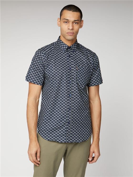 Navy Short Sleeve Flag Print Shirt   Ben Sherman   Est 1963 - Xl loving the sales