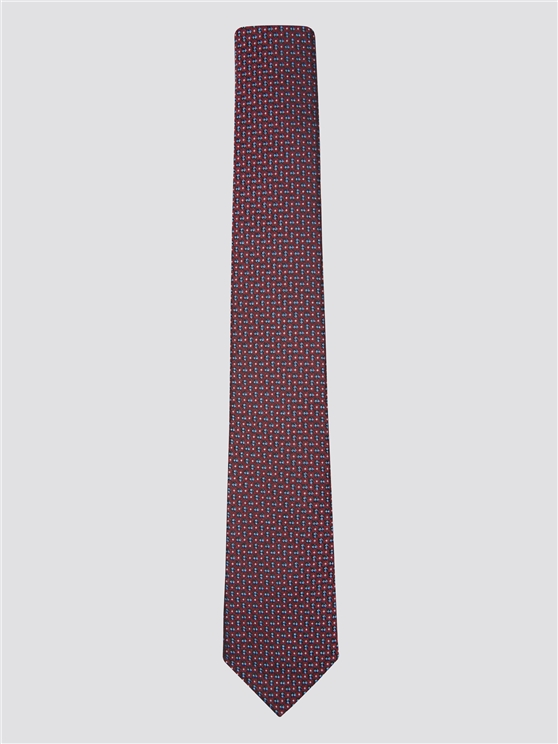 Red Jacquard Textured Silk Tie | Ben Sherman | Est 1963 - One Size loving the sales