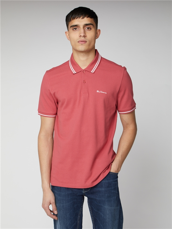 Rose Pink Romford Tipped Polo Shirt | Ben Sherman | Est 1963 - Small loving the sales