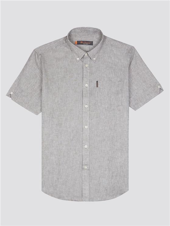 Short Sleeve Linen Shirt Khaki | Ben Sherman - Large loving the sales