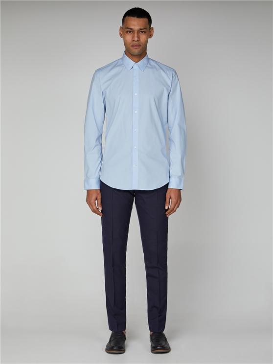 Sky Blue Long Sleeve Stretch Shirt  | Ben Sherman - 16 loving the sales