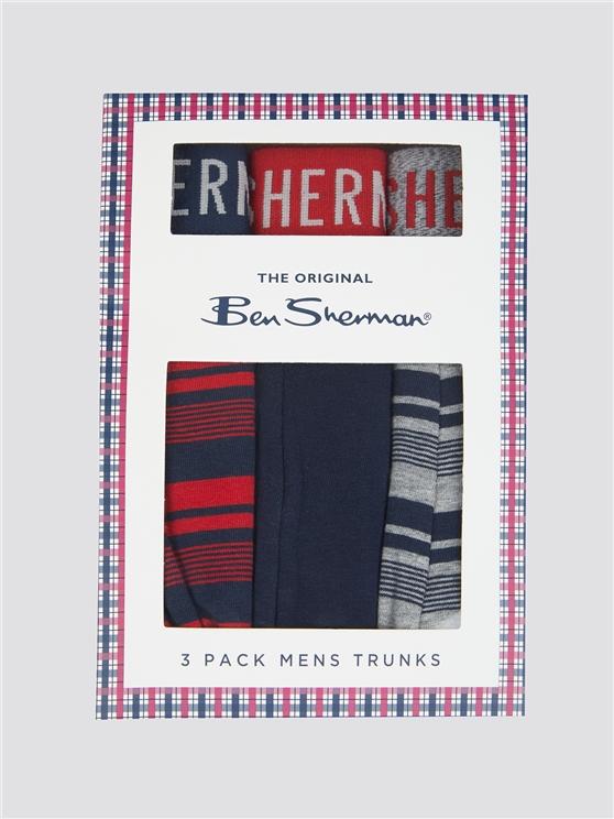 Trio Of Men's Striped Boxer Shorts | Ben Sherman | Est 1963 - Small loving the sales