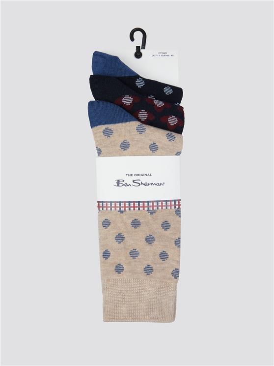 Trio Of Polka Dot Socks | Ben Sherman | Est 1963 - 7-11 loving the sales