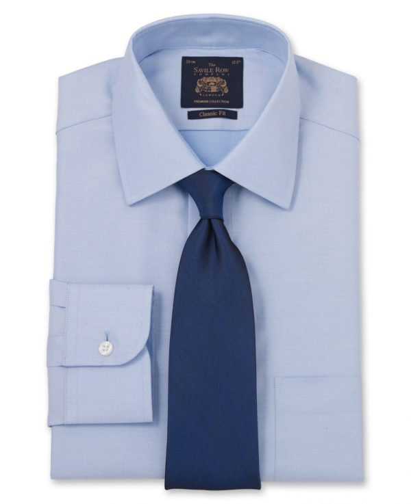 "Blue Luxury Twill Classic Fit Shirt - Single Cuff 15"" Standard Single loving the sales"
