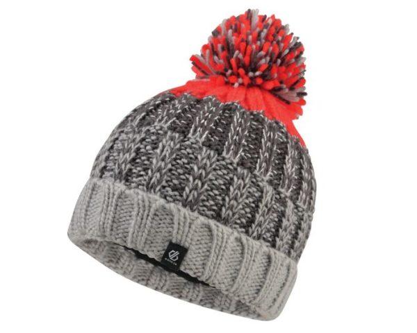 Dare 2b - Boys' Logical Bobble Hat Ebony Fiery Red loving the sales