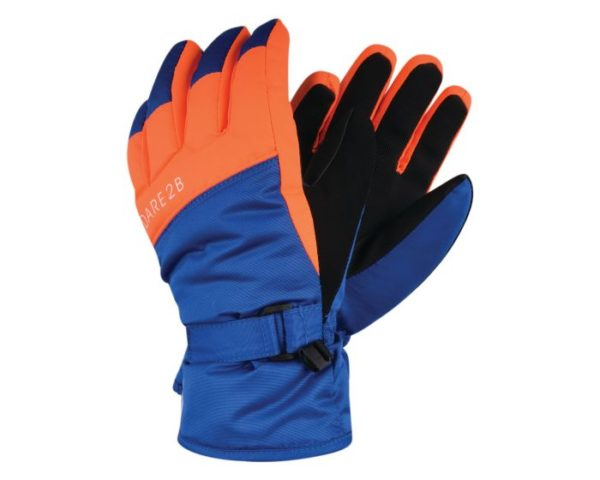 Dare 2b - Boys' Mischievous Ski Gloves Oxford Blue Vibrant Orange loving the sales