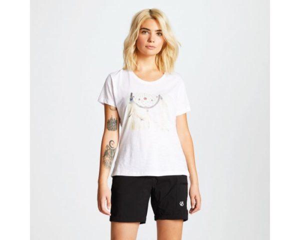 Dare 2b - Women's Emote Graphic Print T-Shirt White loving the sales