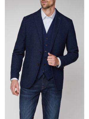 Jeff Banks Stvdio Neps Navy Tweed Blazer 38r Blue loving the sales