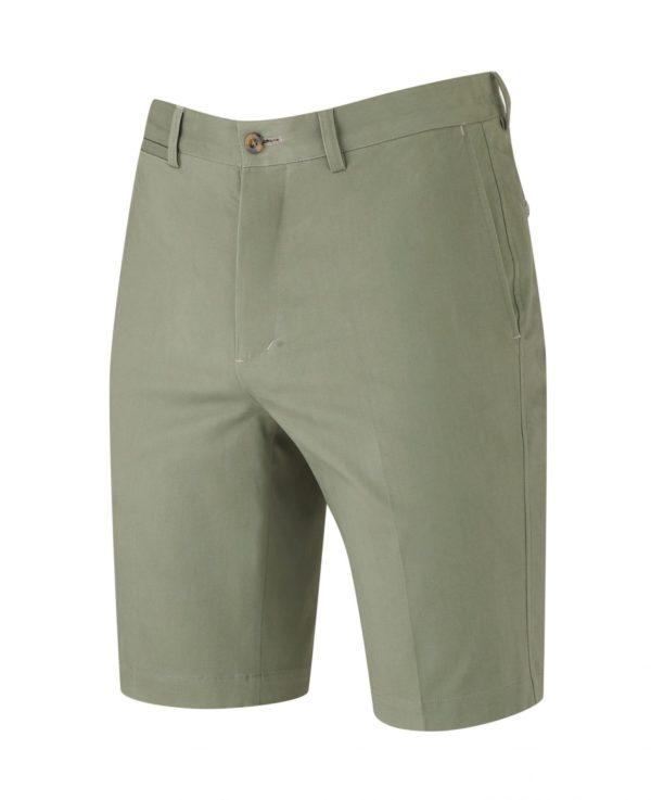 "Khaki Flat Front Slim Fit Chino Shorts 40"" loving the sales"