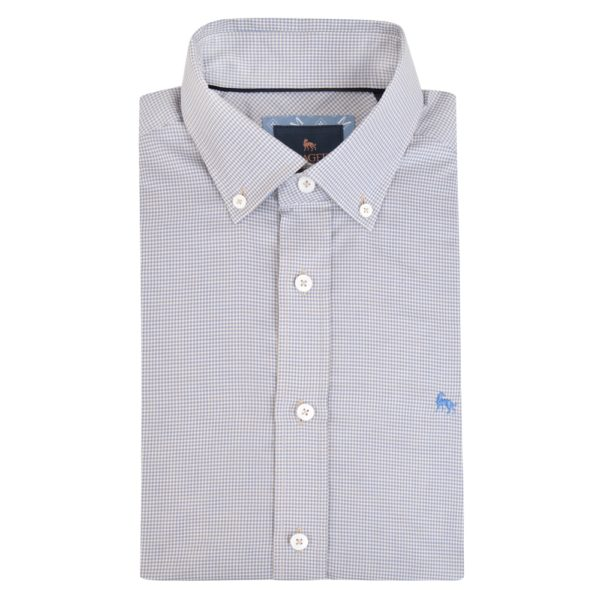 Magee 1866 Blue Rarooey Micro Check Classic Fit Shirt loving the sales